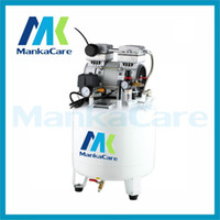 commercial air compressor with tank - Dental Silent Oilless Air Compressor with one for two outlets L w Tank Silent Mute Flush air pump Medical Clinic device