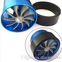 Wholesale Aluminum R Min Car Single TURBO quot quot Air Intake Fuel Gas Saver Fan bka lots200