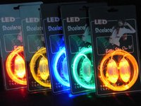 Wholesale 300PAIRS Blister Package Multicolors Light Up LED Shoelaces Boys Girls Flash Shoes Laces Glowing Night Shoes Strings