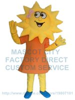 adult sunflower costumes - yellow sunflower mascot costume flower girl custom adult size cartoon character cosply carnival costume