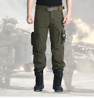 army fatigue colors - holesale Men s trousers outdoor clothing tactical military knee man army camouflage fatigues pants pants work clothes COLORS