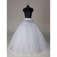 Wholesale Ball Gown Style Layer No Hoop Tulle White Petticoat Adult Wedding Dress Crinoline Petticoat Skirt Slip No HOOP