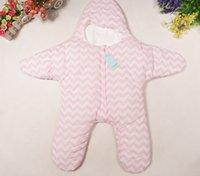 baby bunting infant - PrettyBaby Newborn Starfish Sleeping Bag Cute Unisex Infant Baby Bunting Warm Baby Blanket Swaddle Sleepsacks N0407