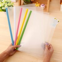 Wholesale A4 Size Transparent Rod Pumping Folder School Business Office Supplies Folder Plastic Storage Documents Paper Clip