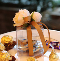 Wholesale 2016 HOT Fashion Wedding Boxes Gift box Candy box Transparent tied bouquet BOX DIY chocolate boxes favor holders candy box