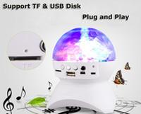 best digital speakers - Best gift Disco Stage Lighting Digital LED RGB Crystal Magic Ball Bluetooth Speakers Effect Light bluetooth speaker with remote control