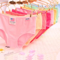 bamboo code - Ladies underwear Candy color lace pure color is natural pure cotton underwear code breathable bamboo fiber briefs