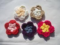 bags wool hat - Sewing Notions appliques DIY manual wool flower hat cap bag flower clothing accessories garment accessories