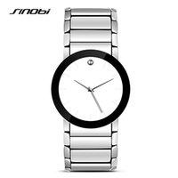 analog writing - SINOBI Simple Women Wrist Watches Write Watchband Top Luxury Brand Ladies Geneva Quartz Clock Female Wristwatches Girls New