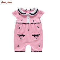 baby onesie lot new - Fashion New Summer Lovely Girl Rompers Little Bow Pink Baby Onesie Cotton Infant Girls Jumpsuit Costume