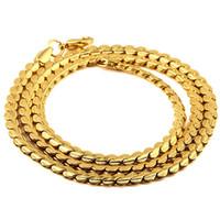 Wholesale Fashion Mens Chains Necklaces K Gold Plated Link Chains Hip Hop Jewelry Design Punk Rock Micro Men Long CM Chain For Sale