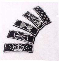 Wholesale Black diamond crystal hairpin retro fashion hair BB crown bowknot edge clip to tire