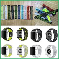 Wholesale Sport Silicone Watchband Hole Loops Strap For Apple Watch series and Series strap mm Bracelet VS Fitbit Alta Charge