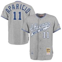 basball jersey - Custom Chicago White Sox Throwback Jersey Mens Luis Aparicio Mitchell Ness Gray Basball Jersey Embroidery and Sewing Logos