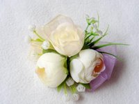 best flower buds - white Milk Corsage Artificial Imitation Flower For Bridegroom and The best man group wedding Supplies charming Flower For Wedding Gowns Z415