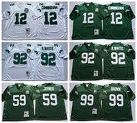 Wholesale 100 Stitiched Philadelphia jerseys Eagles Reggie White Randall Cunningham Jerome Brown Joyner Green Throwback for men jerseys real photo