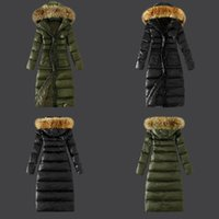 bamboo patch - Cheap New Women s Winter Army Green Jackets Lady Authentic Down Jacket Warmth Coats