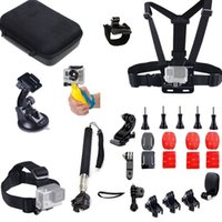 Wholesale 17 in Accessories Head Chest strap Bike Handlebar Holder Suction Cup Floating Handle Grip Monopod pole for Gopro Hero
