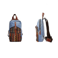 antique leather trunk - Antique Style Denim Canvas Sling Bags for Men and Women Vintage Sling Backpack Purse Cross Body Daypack