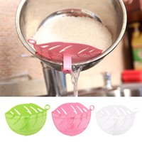 Wholesale 1PC Durable Clean Leaf Shape Rice Wash Tool Sieve Beans Peas Soybean Mungbean Cleaning Gadget Kitchen Clips Tools CS57