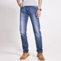Wholesale Casual Mens Jean Slim Regular Straight Fit Distressed Cotton and Spandex Large Size Elastic Cheap Jeans ZS04