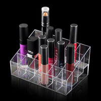 Wholesale Hot sell Cosmetic Organizer Makeup Lipstick Storage Display Stand Case Rack Holder