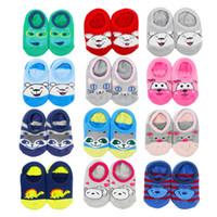 antislip flooring - Infants Baby socks antislip rubber sole room floor socks terry Cartoon animal ankle socks for Kids children Kawaii autumn Spring winter