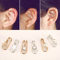 Wholesale 2X Non Piercing Silver Plated Cartilage Ear Cuff Earrings Wrap Clip On Jewelry