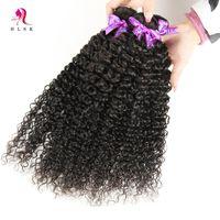 Cheap 7A Kinnky Curly Hair Bundles 1B Best Brazilian Virgin Remy Human Hair Weft