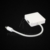 Wholesale Hotsale Worldwide in Mini DP Displayport Thunderbolt to HDMI DVI VGA Adapter for MacBook