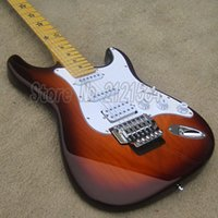 Wholesale ELECTRIC GUITARS ST SUNBURST COLOR BODY FACTORY GUITAR Rosewood FretBoard MUSICAL INSTRUMENTS HOT SELL