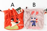 animation tools - Crazy Animals Town Bag Judy Nick Zootopia Cartoon Characters storage bag Surrounding Animation Film DHL