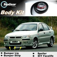 Wholesale Bumper Lip Lips For Chevrolet Lanos FSO Front Skirt Deflector Spoiler For Car Tuning The Stig Recommend Body Kit Strip