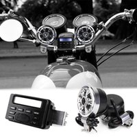 band sound systems - car dvd Motorcycle Sound Audio Radio System Handlebar V Full band FM Stereo Speakers ATV Bike With mm AUX jack to link MP3 device