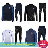 football training - French training suit Euro Cup maillot de foot French national football training wear long sleeved tracksuit football jacket pants