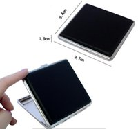 Wholesale Classic Leather Alloy PU Cigarette Case Box Metal Holder Cigars Black creative fashion personality Smoking Accessories