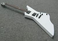 Une nouvelle marque Guitare électrique Explorer corps de la forme body corps blanc avec incrustation de serpent sur la touche!