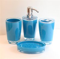 Wholesale 4pcs Submarino Bathroom Set Blue Blue Sets Bathroom Soap Holder Toothbrush Blue Bathroom Accessory Blue Bathroom Accessory