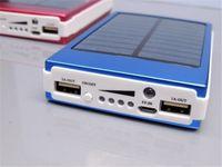 оптовых 1.5w панели солнечных батарей-большой емкости солнечной Dual USB 30000mAh Солнечное зарядное устройство Портативный внешний аккумулятор резервного копирования для сотового телефона Tablet MP3 1.5W панели солнечных батарей