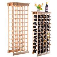 Wholesale New Bottle Wood Wine Rack Storage Display Shelves Kitchen Decor Natural