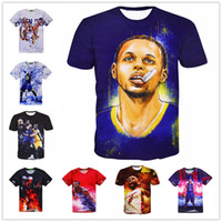 Wholesale DHL Styles Creative Stephen Curry Hip Hop Print D T Shirt Camisetas Casual Tee Shirts Tops