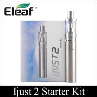 Wholesale Top quality Huge Vapor Ijust Kit mAh Ijust2 Starter Kit ml ohm Sub Ohm Tank Battery clone via DHL free