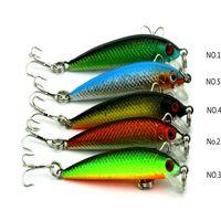 bass gear - Hard Bait Minnow Fishing Lures Bass Fresh Salt Water Fish Foreign Trade Fish Gear color Mini Minnow Fishing Hook