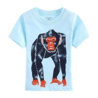 Wholesale Apes T Shirts Boys Blue Monkey Jersey Gorilla Fashion Children T Shirt Outfits Summer Kids tee shirts top garment