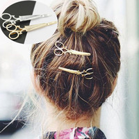 best friends clip - Gold silver Scissors HairPins Shears Clip For Hair Tiara Barrettes Headdress Vintage Simple Head Jewelry best Friends gift