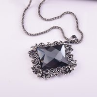 Wholesale Crystal Decorative Items - Dress accessories necklace crystal jewelry decorative items autumn and winter wild long sweater chain pendant wedding bridal pendant gift