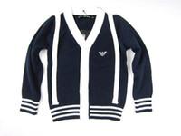 Wholesale New Cotton Autumn Long Sleeve Boy Sweater V Neck Knitting Coat Children Clothing Casual Cardigan Jacket