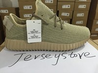 Wholesale 2016 Top Quality Kanye Milan West Yeezy Boost Moonrock Oxford Tan Pirate Black Turtle dove Men Trainers Shoes Running