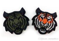 Wholesale 50 Tiger Tactical Patch Morale Patches Hook Loop D Embroidery Badge Military Army Armband Badge cm free ship