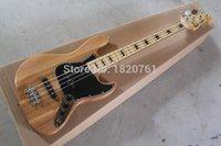 Wholesale 2019 new electric bass guitar Jazz Bass guitar natural strings Maple fingerboard guitar
